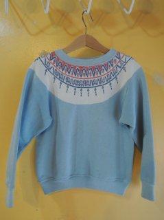 1960's Snow-Flake Pattern Sweatshirts for KIDS