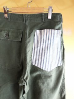 <img class='new_mark_img1' src='https://img.shop-pro.jp/img/new/icons2.gif' style='border:none;display:inline;margin:0px;padding:0px;width:auto;' />〜1970's MILITARY Utility Trousers with hickory PATCHes