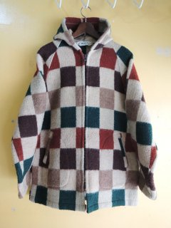 <img class='new_mark_img1' src='https://img.shop-pro.jp/img/new/icons44.gif' style='border:none;display:inline;margin:0px;padding:0px;width:auto;' />1970's WOOLRICH Checkerd-Blancket Hooded Parka
