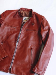 1970's BRIMACO Redish-Brown Leather Single Riders Jacket