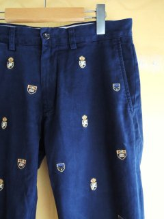 embroidered cotton pants by POLO RALPH LAUREN �