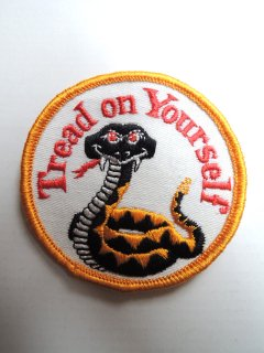 1970's Tread on Yourself Patch Deadstock