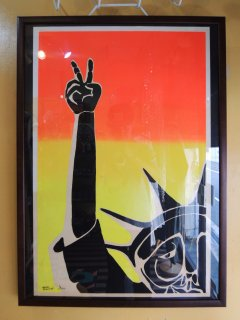 Late 60's Peace Fingers × Statue Of Liberty POSTER