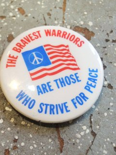 1983 PEACE & AMERICAN FLAG Pinback Buttons  by LURRY FOX BUTTONS