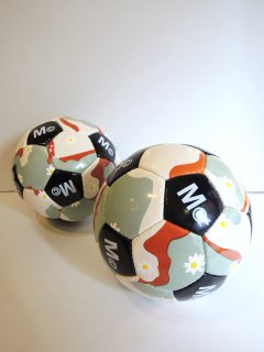 New! daisy & camofluage SOCCER BALL by MARK MCNAIRY