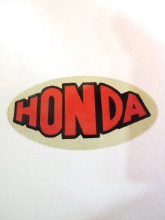 1970's HONDA STICKER DEADSTOCK RED