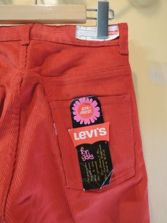 1970's Levi's STA-PREST for gals DEADSTOCK orange