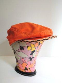 1950's〜60's orange × checkered HAT