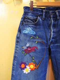 embroidered & patched Levi's 501 BIG E