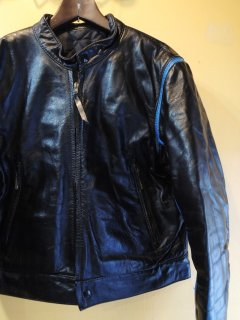 1970's leather motorcycle jacket with TRIMs