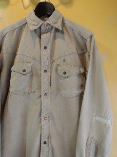 1960's montgomery ward 101 chino-cloth western shirts