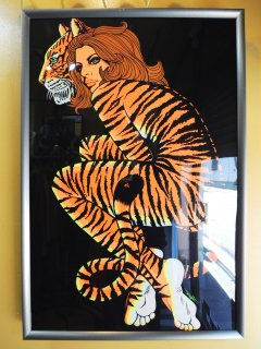 1960's TIGER LADY Signed by Michel Art