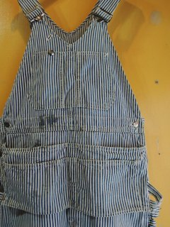 〜1950's SLEDGE'S HICKORY-STRIPED OVERALL with APRON