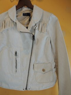 New! Ralph Lauren cotton & Leather RIDERs JACKET