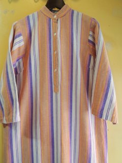 1970's STRIPED COTTON DRESS MADE in INDIA