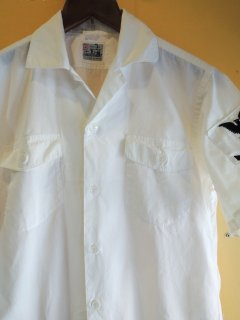 1950's military White SHIRTs by SAKURA SHIRT