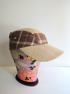 1950's STRAW CAP FOR FISHING DEADSTOCK
