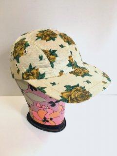 1950's flower-print outdoor CAP deadstock