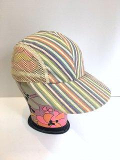 1950's stripes / mesh outdoor CAP deadstock
