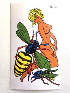 1970's deadstock erotic STICKERs �
