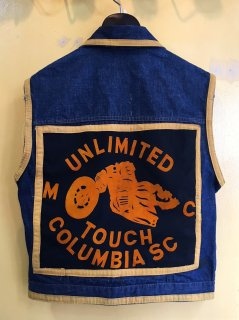 <img class='new_mark_img1' src='https://img.shop-pro.jp/img/new/icons2.gif' style='border:none;display:inline;margin:0px;padding:0px;width:auto;' />1960〜70's motorcycle-club DENIM vest
