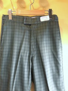 1960's Plaid Tapered Slacks by Turner Togs deadstock