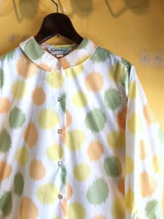1960's dot pattern blouse by
