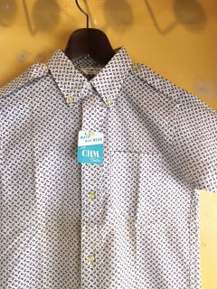 1960's AUTHENTIC IVY paisley B/D shirts deadstock