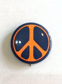1970's PEACE-SIGN pinback button orange