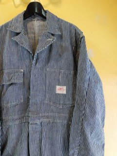 1950's hickory striped COVERALLs by STRONG RELIABLE