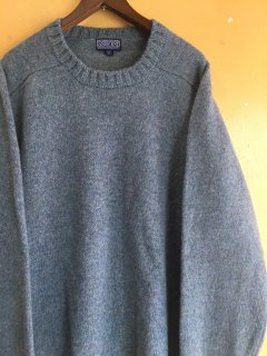 SHETLAND 100% WOOL sweater by LAND'S END MADE in ENGLAND