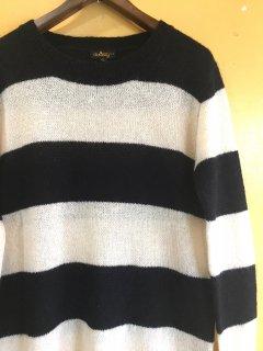 BLACK / WHITE mohair SWEATER