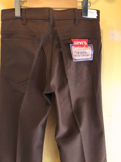 1970's Levi's 632 boots-cut STA-PREST deadstock BROWN