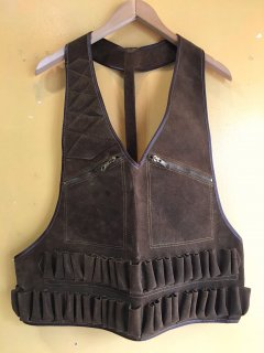 vintage leather hunting vest