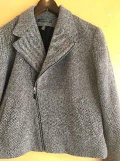 RALPH LAUREN wool double-RIDERS JACKET �