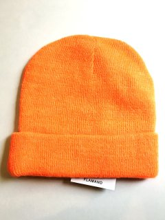 New! mohair knit beanie ORANGE