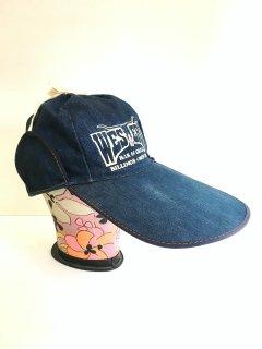 〜1980's LONG BRIM DENIM CAP of WESTERN BAR & GRILL
