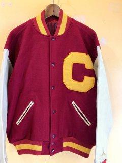 1980's〜90's wool / leather varsity jacket by TM ATHLETICS