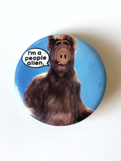 1980's ALF / I'm a people alien pinback buttons
