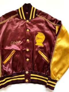 1950's button-fly satin letterman jacket by Powers