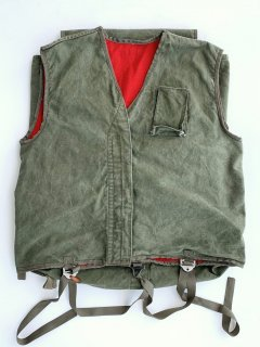 1950〜60's canvas VEST with 2 big pockets
