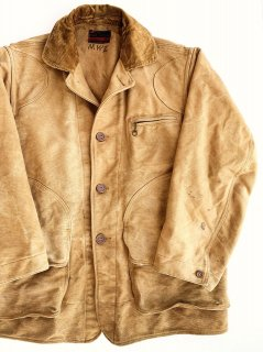 〜1950's cotton-flannel HUNTING jacket by