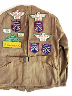 1940's brown SHOOTING jacket by