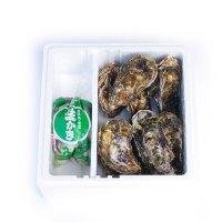 牡蠣殻つき10個+むき身500g