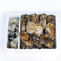 牡蠣殻つき20個+むき身1kg