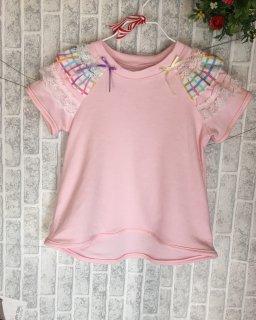 袖フリルTシャツ 〜ピンク〜