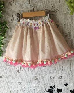 シフォンスカート 〜ピンクぽんぽん〜