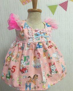 アニマル柄ワンピース 〜ピンク〜