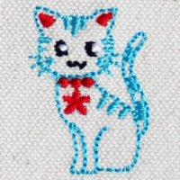 シッポをたてた猫ちゃん