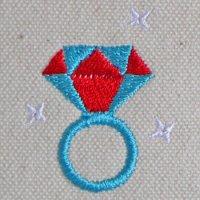 キラキラ光るルビーの指輪